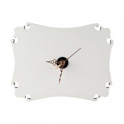 Relógio em MDF Premium Brilho Retangular