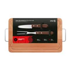 Kit churrasco com garfo e faca peixeira